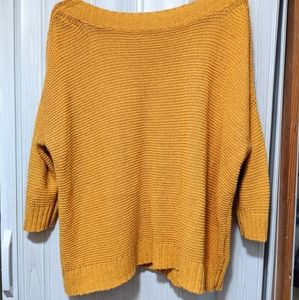 EILEEN FISHER Linen and Cotton Yellow Sweater